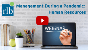 HR Management During a Pandemic Recording